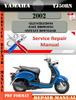 Thumbnail Yamaha YJ50RN 2002 Digital Service Repair Manual