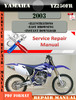 Thumbnail Yamaha YZ250FR 2003 Digital Service Repair Manual