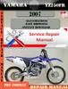 Thumbnail Yamaha YZ250FR 2007 Digital Service Repair Manual