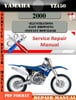 Thumbnail Yamaha YZ450 2000 Digital Service Repair Manual
