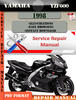 Thumbnail Yamaha YZF600 1998 Digital Service Repair Manual