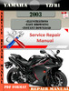 Thumbnail Yamaha YZFR1 2003 Digital Service Repair Manual