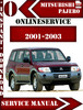 Thumbnail Mitsubishi Pajero 2001-2003 Service Repair Manual