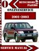 Thumbnail Mitsubishi Pajero 2001-2003 Service Repair Manual