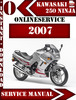 Thumbnail Kawasaki 250 Ninja 2007 Digital Service Repair Manual