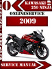 Thumbnail Kawasaki 250 Ninja 2009 Digital Service Repair Manual
