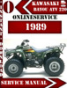 Thumbnail Kawasaki ATV 220 1989 Digital Service Repair Manual