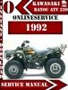 Thumbnail Kawasaki ATV 220 1992 Digital Service Repair Manual