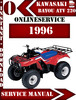 Thumbnail Kawasaki ATV 220 1996 Digital Service Repair Manual