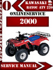 Thumbnail Kawasaki ATV 220 2000 Digital Service Repair Manual