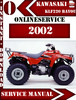 Thumbnail Kawasaki ATV 220 2002 Digital Service Repair Manual
