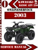 Thumbnail Kawasaki ATV 250 Bayou 2003 Digital Service Repair Manual