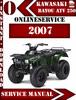 Thumbnail Kawasaki ATV 250 Bayou 2007 Digital Service Repair Manual