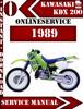 Thumbnail Kawasaki ATV KDX 200 1989 Digital Service Repair Manual