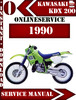 Thumbnail Kawasaki ATV KDX 200 1990 Digital Service Repair Manual