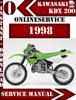 Thumbnail Kawasaki KDX 200 1998 Digital Service Repair Manual