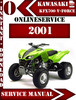 Thumbnail Kawasaki KFX700 V-Force 2001 Digital Service Repair Manual