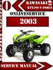 Thumbnail Kawasaki KFX700 V-Force 2003 Digital Service Repair Manual