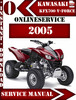 Thumbnail Kawasaki KFX700 V-Force 2005 Digital Service Repair Manual