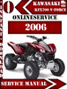 Thumbnail Kawasaki KFX700 V-Force 2006 Digital Service Repair Manual
