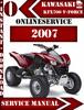 Thumbnail Kawasaki KFX700 V-Force 2007 Digital Service Repair Manual