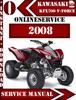 Thumbnail Kawasaki KFX700 V-Force 2008 Digital Service Repair Manual