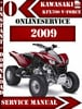 Thumbnail Kawasaki KFX700 V-Force 2009 Digital Service Repair Manual