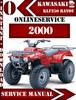 Thumbnail Kawasaki ATV KLF250 BAYOU 2000 Digital Service Repair Manual
