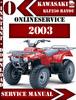 Thumbnail Kawasaki ATV KLF250 BAYOU 2003 Digital Service Repair Manual