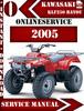 Thumbnail Kawasaki ATV KLF250 BAYOU 2005 Digital Service Repair Manual