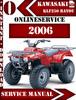 Thumbnail Kawasaki ATV KLF250 BAYOU 2006 Digital Service Repair Manual