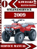 Thumbnail Kawasaki ATV KLF250 BAYOU 2009 Digital Service Repair Manual
