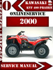 Thumbnail Kawasaki KVF 400 Prairie 2000 Digital Service Repair Manual