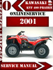Thumbnail Kawasaki KVF 400 Prairie 2001 Digital Service Repair Manual