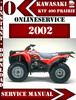 Thumbnail Kawasaki KVF 400 Prairie 2002 Digital Service Repair Manual