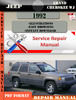 Thumbnail Jeep Grand Cherokee WJ 1992 Digital Service Repair Manual