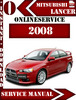 Thumbnail Mitsubishi Lancer 2008 Digital Service Repair Manual