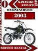 Thumbnail Kawasaki KX85 KX100 2003 Digital Service Repair Manual