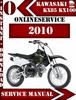 Thumbnail Kawasaki KX85 KX100 2010 Digital Service Repair Manual