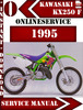 Thumbnail Kawasaki KX250 F 1995 Digital Service Repair Manual