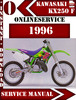 Thumbnail Kawasaki KX250 F 1996 Digital Service Repair Manual