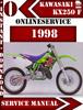 Thumbnail Kawasaki KX250 F 1998 Digital Service Repair Manual