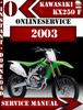 Thumbnail Kawasaki KX250 F 2003 Digital Service Repair Manual