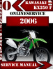 Thumbnail Kawasaki KX250 F 2006 Digital Service Repair Manual