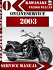 Thumbnail Kawasaki VN2000 Vulcan 2003 Digital Service Repair Manual