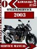 Thumbnail Kawasaki Z750 2003 Digital Service Repair Manual