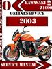 Thumbnail Kawasaki Z1000 2003 Digital Service Repair Manual