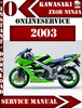 Thumbnail Kawasaki ZX6R Ninja 2003 Digital Service Repair Manual