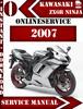 Thumbnail Kawasaki ZX6R Ninja 2007 Digital Service Repair Manual