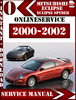 Thumbnail Mitsubishi Eclipse 2000 2001 2002 Service Repair Manual